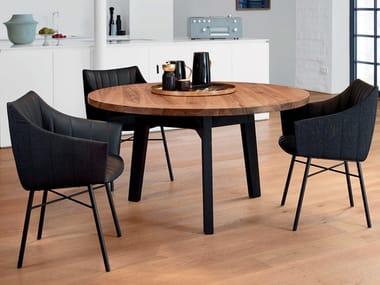 Runder Esstisch aus massivem Holz BB31 CONNECT | Runder Tisch