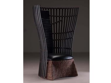 High-back bamboo armchair BC-10   Armchair