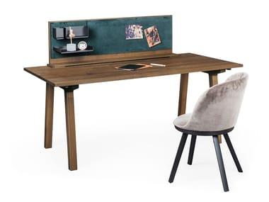 Rectangular wooden office desk BC03