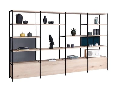 Open solid wood bookcase BC 06 ROOM 68