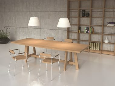 Rectangular English oak dining table BE FARM
