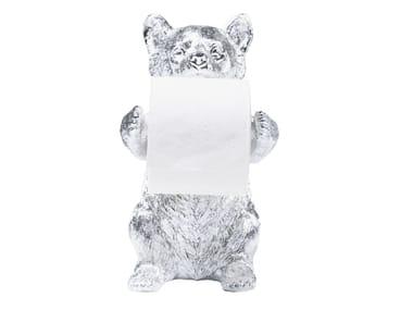Resin toilet roll holder BEAR CHROME