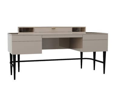 Lacquered rectangular writing desk with drawers BEATRICE II