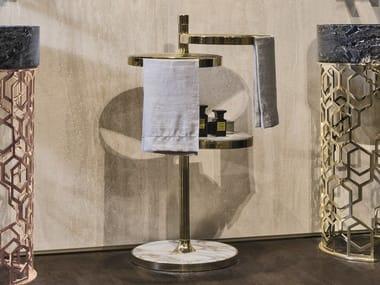 Metal bathroom cabinet / towel rack BEATRIX