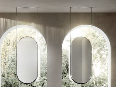 Double-sided oval ceiling mirror BEAUTY | Mirror