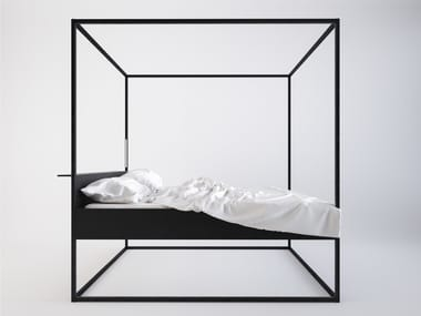Painted metal canopy bed BED LED