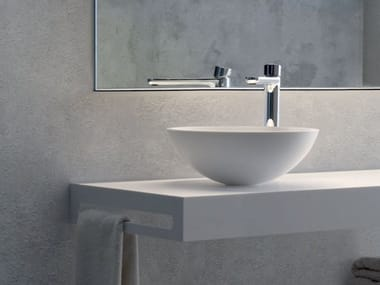 Contemporary style countertop round composite material washbasin BEE