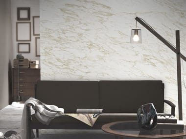 Washable panoramic wallpaper with marble effect BEIGE ARABESCATO MARBLE | Panoramic wallpaper