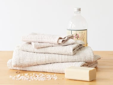 Linen waffle towel BEIGE | Bath Towel