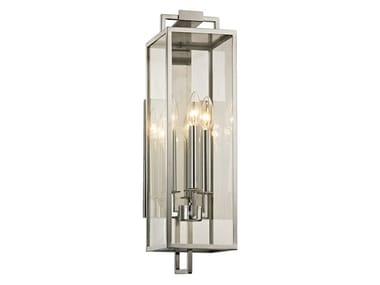 Lampada da parete per esterno in acciaio inox e vetro BEKHAM
