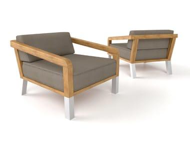 Foam armchair with armrests BELIZE | Armchair