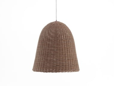 Woven wicker pendant lamp BELL 95