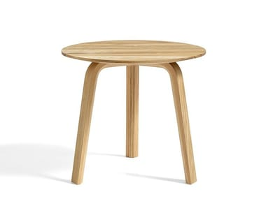 Round wooden coffee table BELLA