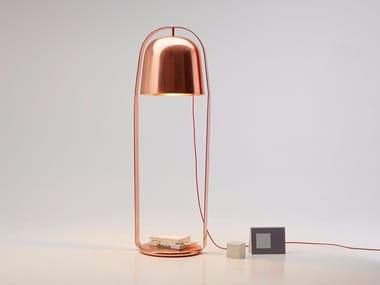 Direct light copper floor lamp BELLA