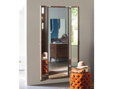 Rectangular wall-mounted mirror and wooden frame BELLAVISTA