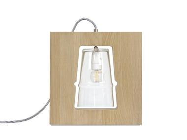 Lampada da tavolo a LED in rovere EMPREINTE - PS01