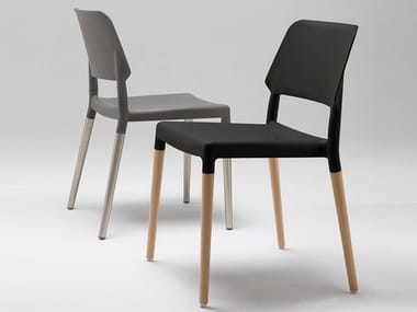 Stackable chair with Polypropylene seat and back BELLOCH | Chair