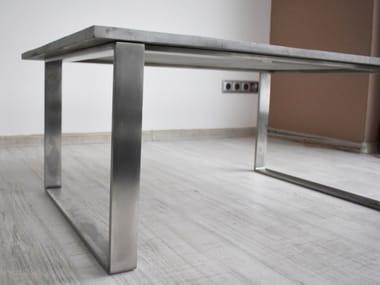 Tavolino da caffè rettangolare in calcestruzzo BEND