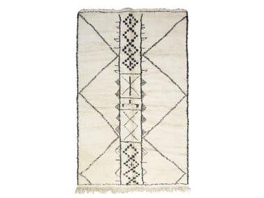 Rectangular wool rug with geometric shapes BENI OURAIN TAA1256BE
