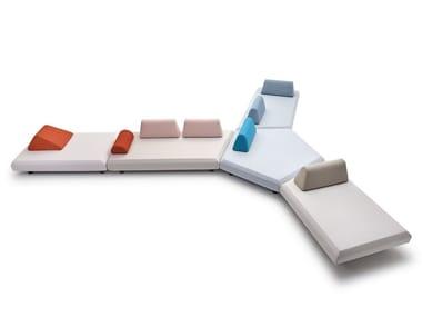 Sectional modular fabric sofa BENTO