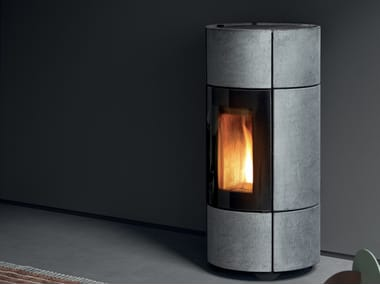 Pellet Central natural stone stove BERG