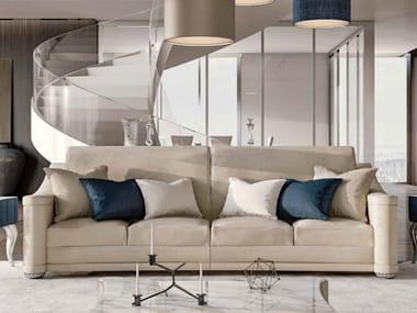 Upholstered 3 seater fabric sofa BERILLO | 3 seater sofa