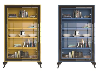 Lacquered beech display cabinet BERLIN