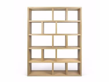 Open sectional shelving unit BERLIN | Plywood shelving unit