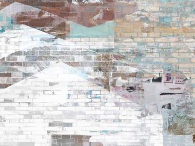 Papel de parede com efeito de tijolos BERLIN