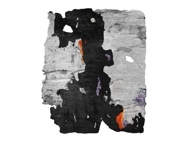 Handmade rug BERZELII BLACK ICE CUT