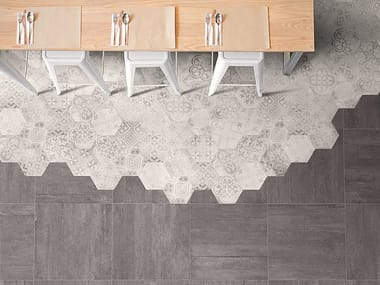 Porcelain stoneware wall/floor tiles with concrete effect BETONAXIS