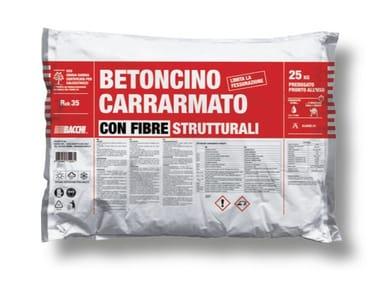 Calcestruzzo fibrato in sacco predosato BETONCINO CARRARMATO FIBRATO