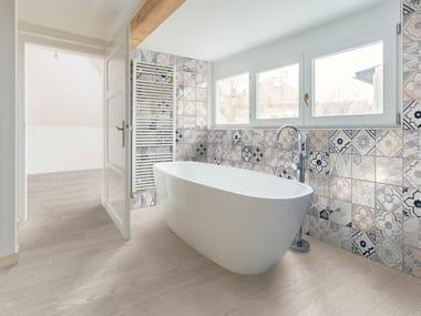 Full-body porcelain stoneware wall/floor tiles with wood effect BETONSTIL ASHWOOD