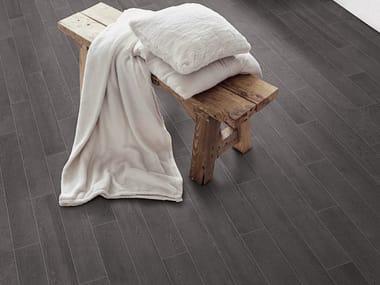 Glazed stoneware wall/floor tiles with wood effect BETONSTIL DUET