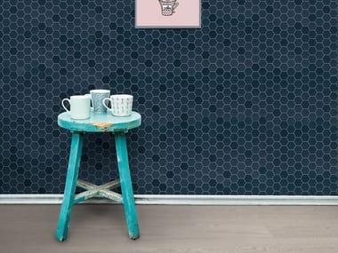 Porcelain stoneware mosaic BETONSTIL HEXA