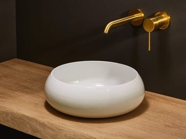 Countertop round steel washbasin BETTECRAFT