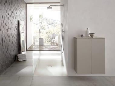 Flush fitting rectangular enamelled steel shower tray BETTEFLOOR SIDE | Rectangular shower tray