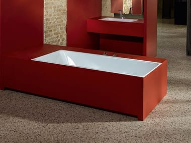 Rectangular enamelled steel bathtub BETTELOFT | Bathtub