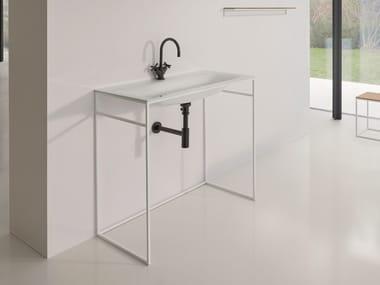 Lavabo rectangulaire simple en acier émaillé BETTELUX SHAPE | Lavabo