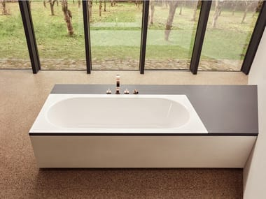 Rectangular built-in enamelled steel bathtub BETTESTARLET SPIRIT