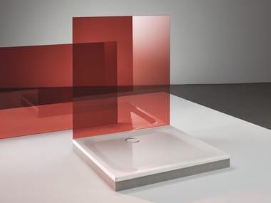 Piatto doccia filo pavimento quadrato in acciaio smaltato BETTEULTRA | Piatto doccia quadrato