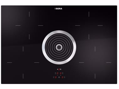 Induction glass ceramic cooktop with cooktop extractor BIA