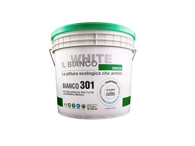 Ecopittura acrilica traspirante murali BIANCO 301