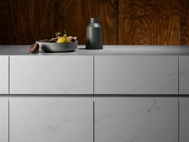Lapitec® kitchen worktop BIANCO VITTORIA – SATIN