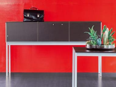 Wooden secretary desk BIANCONERO CORIUM OAK | Secretary desk