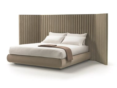 Fabric double bed with high headboard BIARRITZ | BIARRITZ SLIM