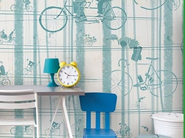 For all ages wallpaper, PVC free, eco, washable BICYCLES