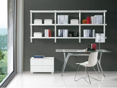 Sectional floating bookcase BIG HOME | Floating bookcase