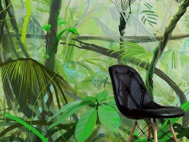 Tropical wallpaper, PVC free, eco, washable BIG JUNGLE