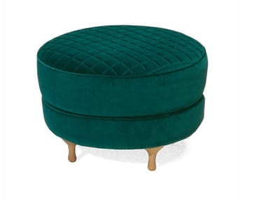 Upholstered fabric footstool BIG MAMA | Fabric footstool